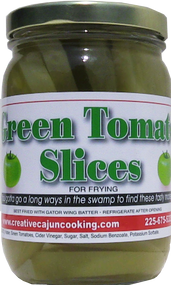 Made for frying! Fresh green tomatoes, sliced and brined so you can fry up your favorite treat any time!