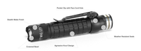 MagLite MAG-TAC 543 Lumen Rechargeable LED Flashlight System w/Crowned Bezel