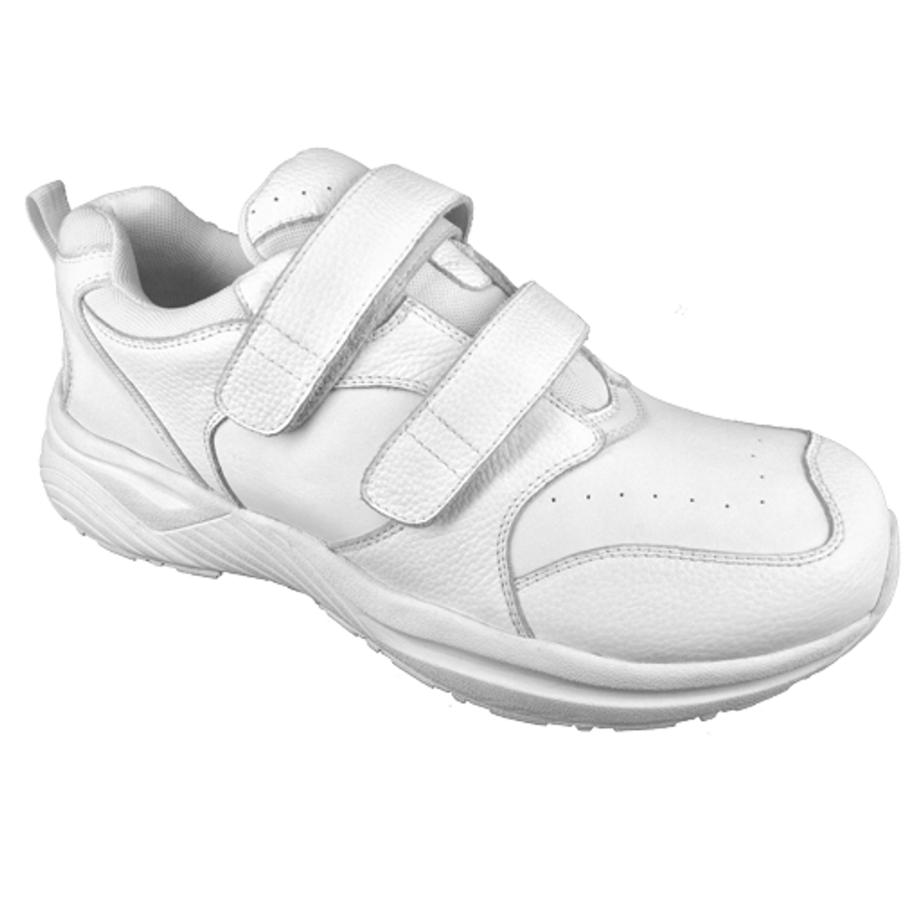 genext athletic white touch closure orthopedic shoes for