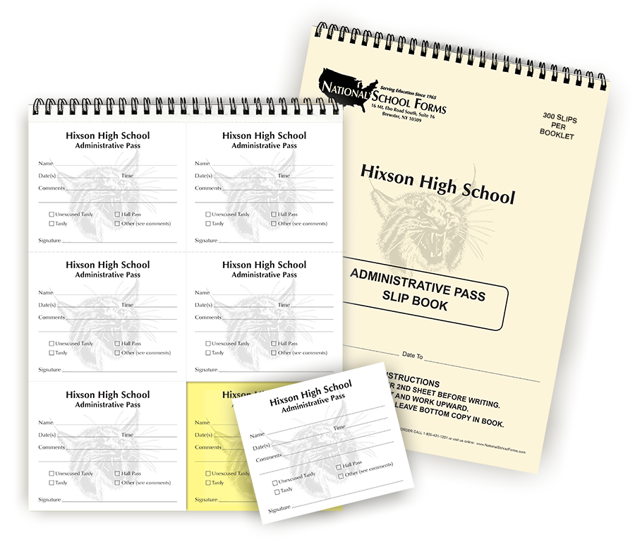300 2-Part Custom Slips Per Booklet With Custom Cover Included
