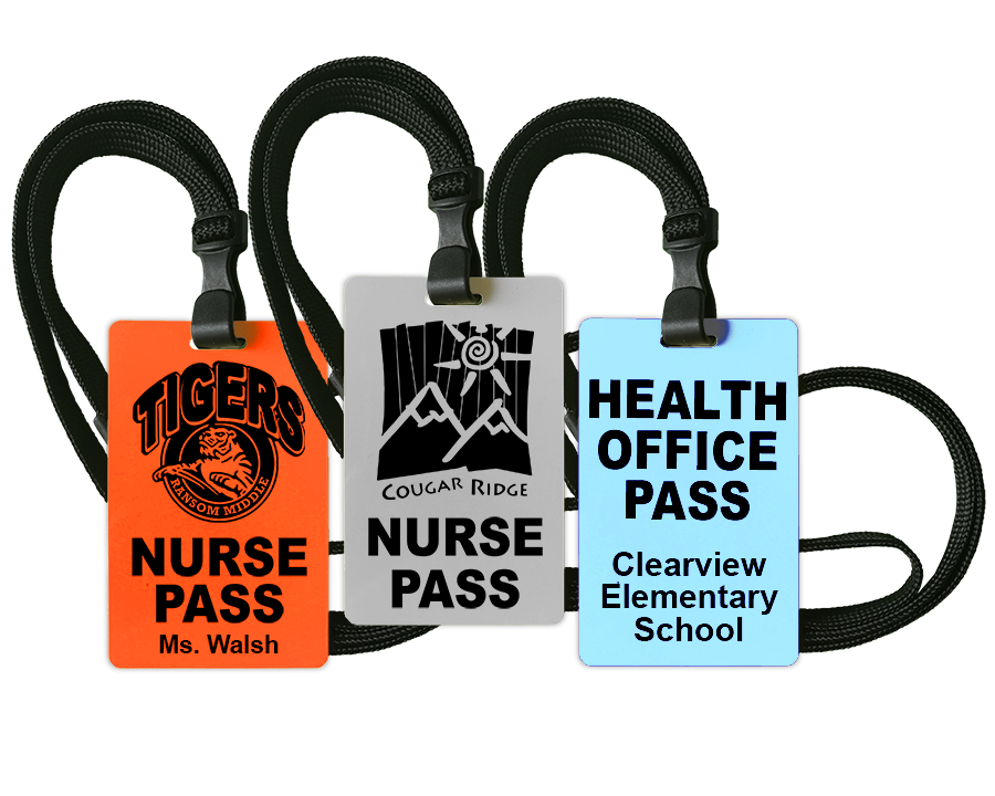 Nurse Passes with solid color PVC cards