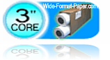 Diameter Printer Roll three-inches in center core (3-inch) large-format paper bond roll