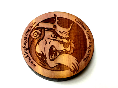 Personalized Wooden Coin - Challenge Coin - 1 3/4