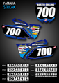 Mini Streak Number Plates Yamaha