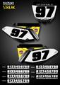 Streak Number Plates Suzuki