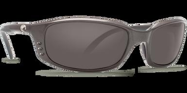 Costa Brine 580P Gunmetal/Silver Mirror