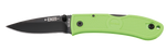 Ka-Bar Mini Dozier Folding Knife - Zombie Green - 4072ZG