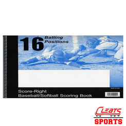 Score-Right Scoring Book - 16 Batting Positions