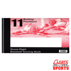 Score-Right Scoring Book - 11 Batting Positions