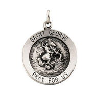 St. George Medallion, sterling silver, chain included