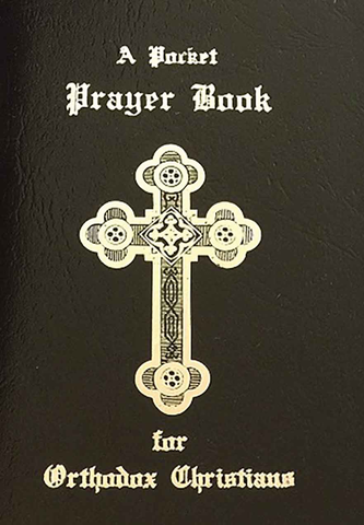 Pocket Prayer Book for Orthodox Christians with a black vinyl cover