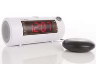 Sonic Blast Projection BT White Alarm Clock