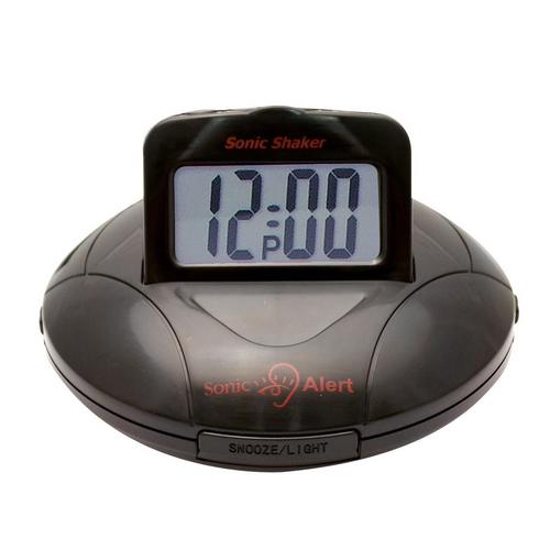 SBP100 Black Vibrating Travel Alarm Clock