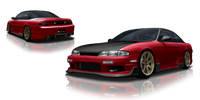 Origin Lab Racing Line Rear Bumper Nissan 240SX S14 Zenki 95-96