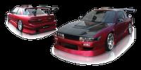 Origin-Lab Aggressive Front Bumper Nissan Silvia/240sx Coupe 89-94