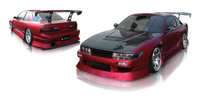 Origin-Lab Aggressive Rear Bumper Nissan Silvia/240sx Coupe 89-94