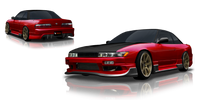 Origin Lab Racing Line Side Skirts Nissan Silvia/240sx Coupe 89-94