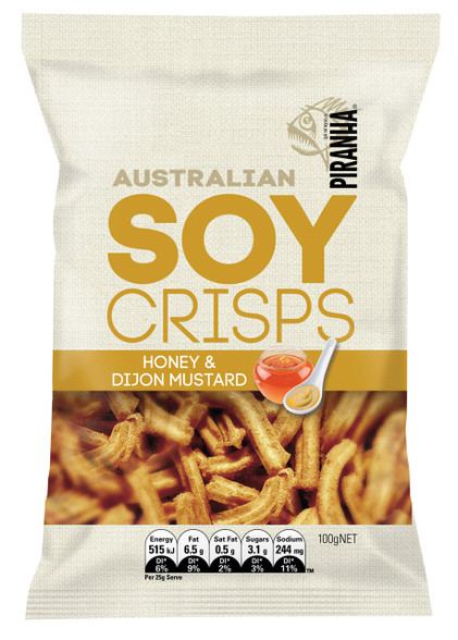 1 x 100g Soy Crisps Honey & Dijon Mustard