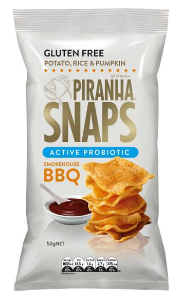 1 x 50gPiranha Snaps Active Probiotic Smokehouse BBQ GLUTEN FREE