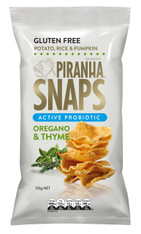 1 x 50g Piranha Snaps Active Probiotic Oregano & Time  GLUTEN FREE
