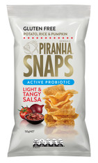 Piranha Snaps Active Probiotic Light & Tangy Salsa GLUTEN FREE