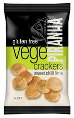 1 x 100g Piranha Vege Cracker  Flavour: Sweet Chilli Lime