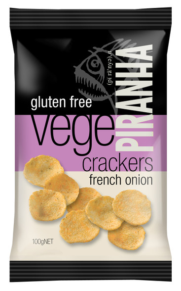 Vege Crackers Gluten Free Flavour:  French Onion