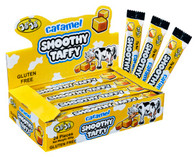 Caramel Smoothy Taffy JoJo 24 x 25g. A sweet chew caramel that is Gluten Free. This is popular for people of all ages.