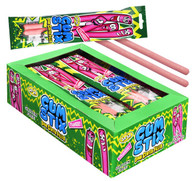 Gum Stix Strawberry JoJo with sour center filled. 12 x 40g. Gluten Free. Not suitable for children under three years of age.