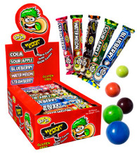 Hammer Candy with Gum Center JoJo 30 packets x 40g. Flavours are Cola, Sour Apple, Blueberry, Watermelon and Strawberry. Gluten Free. Not suitable for children under 3 years of age.
