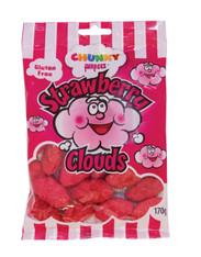 Strawberry Clouds - Chunky Funkeez. 1 x 170g Gluten Free. Single Bag