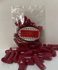 Raspberry Liquorice Chunks Bag. 1 x 220g Bag. Beautiful fresh raspberry liquorice.