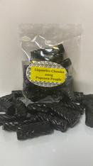 Liquorice Chunks Bag. 1 x 220g Bag. Beautiful fresh black liquorice.