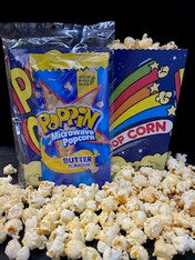 1 x 100g Buttered Microwave Popcorn with a serving Cup.