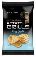 1 x 75g Piranaha Potato Grill Sea Salt GLUTEN FREE