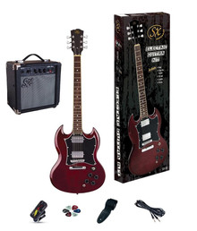 Essex SG Electric Guitar & Amp Pack