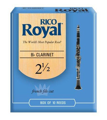 Rico Royal Bb Clarinet Reeds Size 2.5