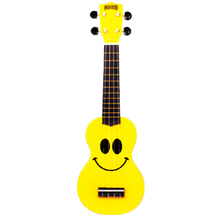 Mahalo Yellow Smiley Ukulele