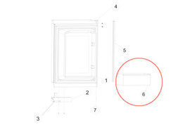 Norcold Lower and Upper Door Bin 622831 (fits the 1200 models)