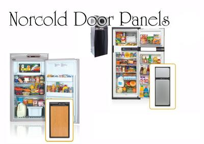 Norcold N6XX Upper & Lower Door Panel Set (woodgrain oak laminate)