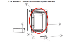 Norcold Upper Right Hand Door 627603 (fits the 1200 model) - panel type door