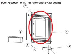 Norcold Upper Right Hand Door 634068 (fits the 1210 model) - stainless steel door