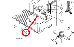Norcold Ice Maker Shut-Off Arm 61656922 (works on all models with an Ice Maker)
