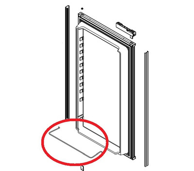 Norcold Wire Rack 624866 for Lower Door Bin (N6/ N8/ N1095 doors with a smooth interior texture)