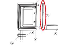 Norcold Upper Door Panel Retainer 627947 (fits 1210 models with panel type doors)