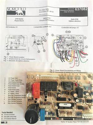 Norcold Power Board 637082 Fits The 2118 Model The