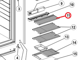 Norcold Short Upper Wire Shelf 632448 (fits the N6/ N8 models)