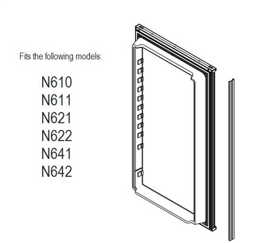 Norcold Lower Door 623955 panel door (fits the N611, N621