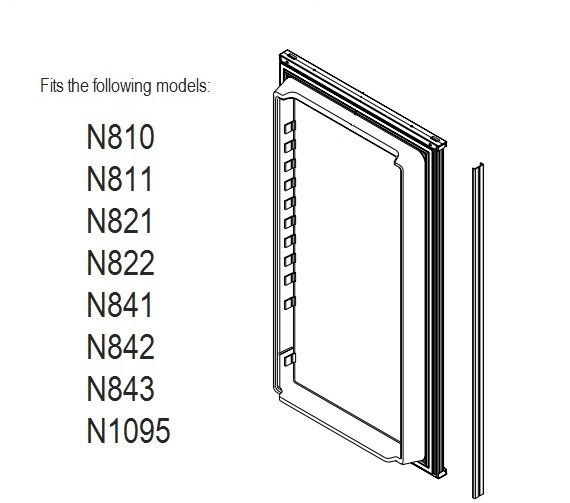 Norcold Lower Door 623942 panel door (fits N811, N821