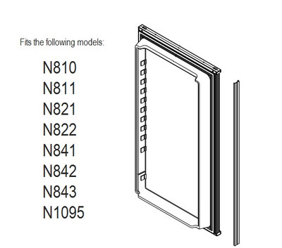 Norcold Lower Door 623942 panel door (fits N810, N811, N821, N822, N841, N842 & N1095) smooth interior